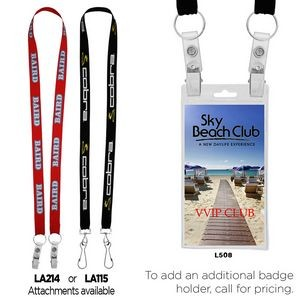 "3/4"" Econo Dual Attachment Lanyard (QUICK SHIP 7-11 Days)"