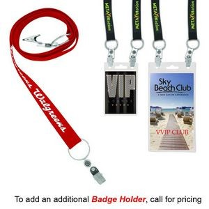 "3/4"" Recycled Econo Dual Attachment Lanyard (Direct Import - 8-10 Weeks Ocean)"